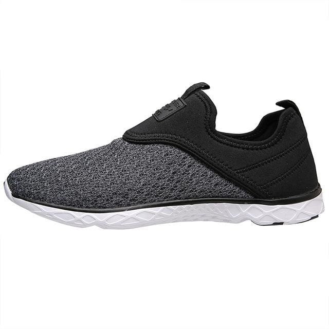 Aleader 2017 New Breathable Mens Shoes Summer Slip On Beach Shoes Flat Ladies Walking Water Shoes - MBMCITY