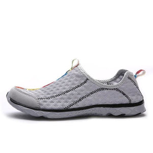 Aleader 2017 New Breathable Mens Shoes Summer Slip On Beach Shoes Flat Ladies Walking Water Shoes