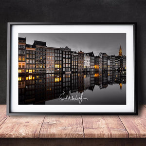 Amsterdam Landscape Photos Modern Poster Art Wall Pictures Silk Fabric Printed Painting Room.