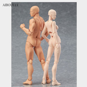 Anime Archetype He She Ferrite Figma Movable BODY KUN BODY CHAN PVC Action Figure Model Toys Doll