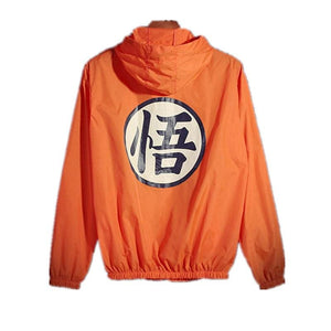 Anime Dragon Ball Thin Sun Protection Hooded Windbreaker Unisex Hip Hop Cosplay Mens Summer Jackets
