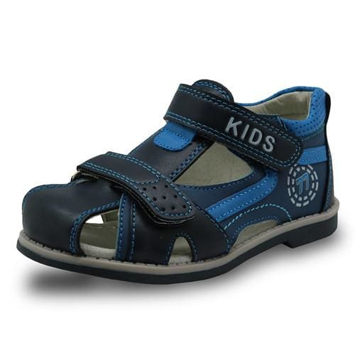 Apakowa 2017 summer kids shoes brand closed toe toddler boys sandals orthopedic sport pu leather - MBMCITY