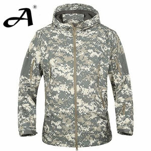 Army Camouflage Coat Military Jacket Waterproof Windbreaker Raincoat Clothes Army Jacket Men Jackets - MBMCITY