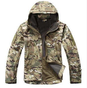 Army Camouflage Coat Military Jacket Waterproof Windbreaker Raincoat Hunt Clothes Army  Men