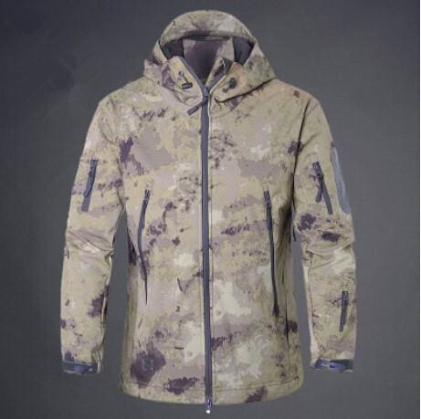 d0de692b59cb ... Army Camouflage Coat Military Jacket Waterproof Windbreaker Raincoat  Hunt Clothes Army Men Yellow Ruins   Xs ...