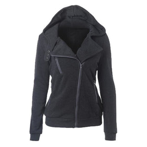 Autumn Winter Zipper Women Basic Jackets Casual Female Outerwear Coats Warm Ladies Jackets Cardigan Dark Gray / S