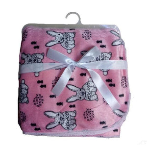 Baby Blanket New Brand Thicken Double Layer Coral Fleece Infant Swaddle Envelope Stroller Wrap For