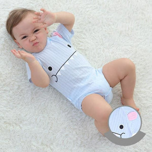 Baby Bodysuits 100%cotton Infant Body Short Sleeve Clothing Similar Jumpsuit Printed Baby Boy Girl Yellow / 3M