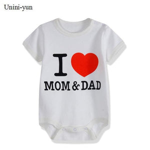 Baby Bodysuits 100%cotton Infant Body Short Sleeve Clothing Similar Jumpsuit Printed Baby Boy Girl Multi / 3M