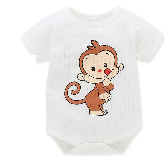 Baby Bodysuits 100%cotton Infant Body Short Sleeve Clothing Similar Jumpsuit Printed Baby Boy Girl