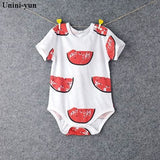 Baby Bodysuits 100%cotton Infant Body Short Sleeve Clothing Similar Jumpsuit Printed Baby Boy Girl Khaki / 3M