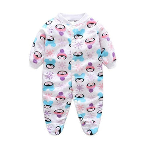 Baby Boy Clothes Girl Jumpsuits Winter Newborn Baby Clothes Cartoon Warm Romper Animal Costume Baby - MBMCITY