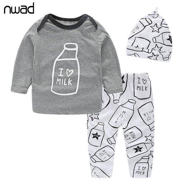Baby Boys Clothes Set 2017 New Spring Autumn Newborn Baby Girl Clothing Long Sleeve T Shirt +Pant + - MBMCITY