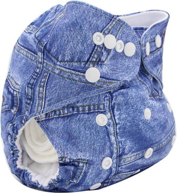 Baby Cloth Diaper Cover Bamboo Velour Fitted Diaper Washable Brand Baby Nappy Animal Print Reusable Ob035