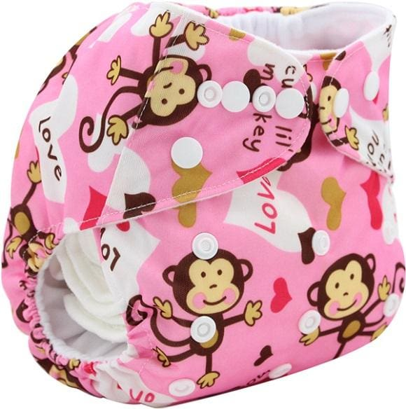 Baby Cloth Diaper Cover Bamboo Velour Fitted Diaper Washable Brand Baby Nappy Animal Print Reusable K4