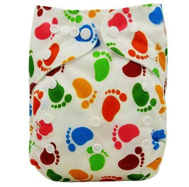 Baby Cloth Diaper Cover Bamboo Velour Fitted Diaper Washable Brand Baby Nappy Animal Print Reusable Ob125