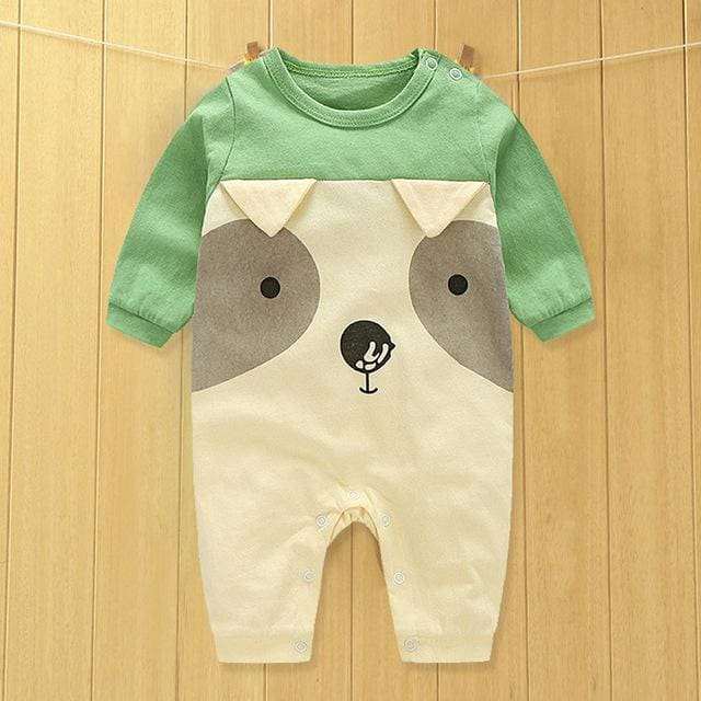 baby clothes new hot 100% cotton winter and autumn baby rompers baby clothing Khaki / 3M