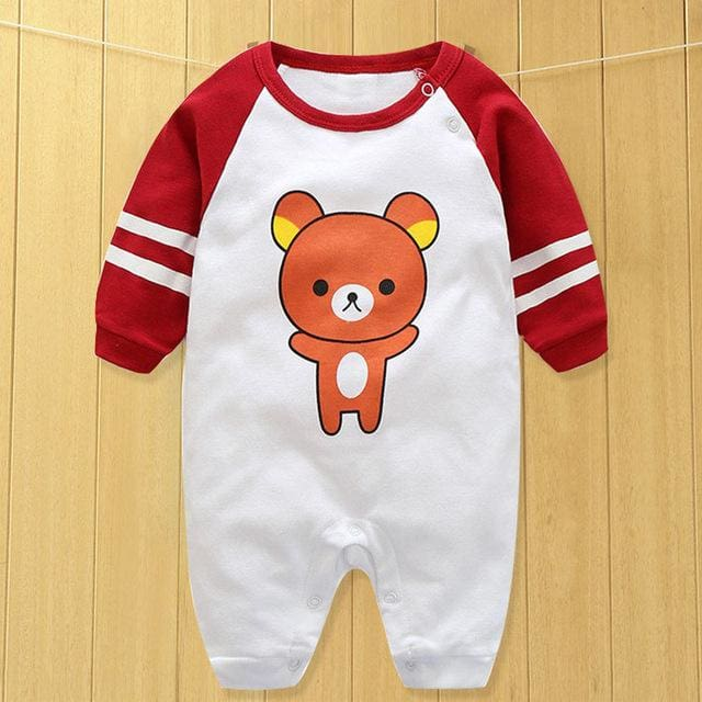 baby clothes new hot 100% cotton winter and autumn baby rompers baby clothing Beige / 3M