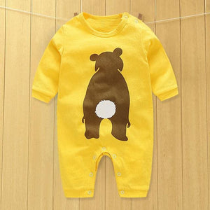 baby clothes new hot 100% cotton winter and autumn baby rompers baby clothing Orange / 3M