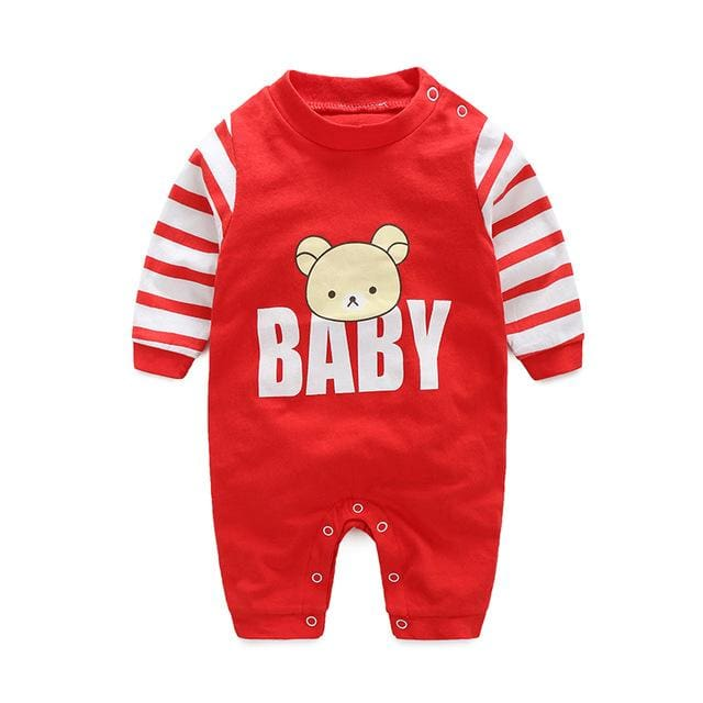 baby clothes new hot 100% cotton winter and autumn baby rompers baby clothing Red / 3M