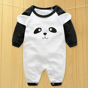 baby clothes new hot 100% cotton winter and autumn baby rompers baby clothing Black / 3M