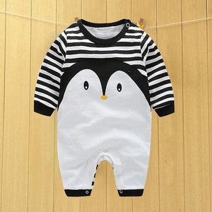 baby clothes new hot 100% cotton winter and autumn baby rompers baby clothing Blue / 3M