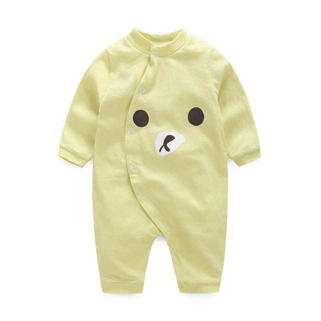 baby clothes new hot 100% cotton winter and autumn baby rompers baby clothing Lavender / 3M