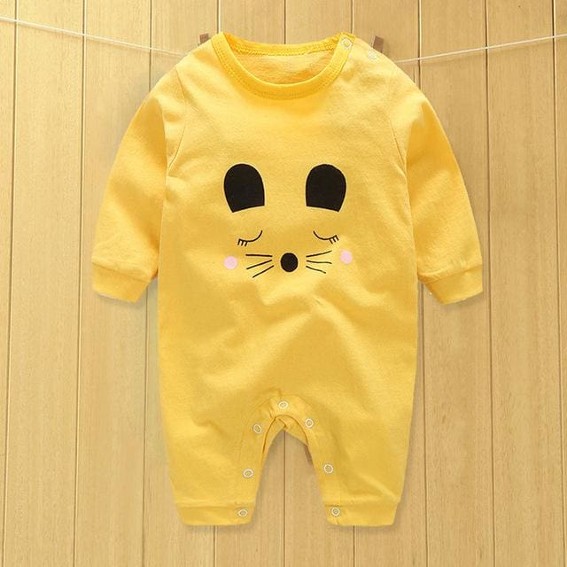 baby clothes new hot 100% cotton winter and autumn baby rompers baby clothing Gray / 3M