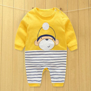 baby clothes new hot 100% cotton winter and autumn baby rompers baby clothing Yellow / 3M