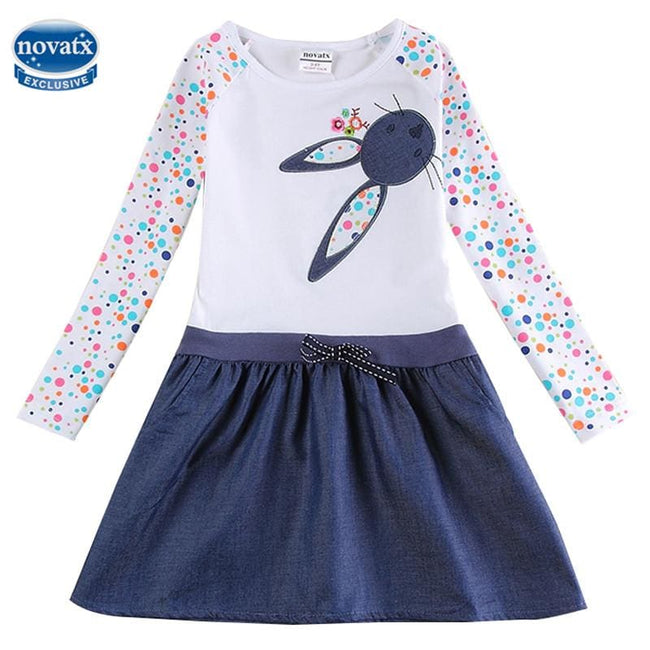 Baby Girl Dress long sleeve kids dresses for girls Clothes children clothing Kids Clothes winter - MBMCITY