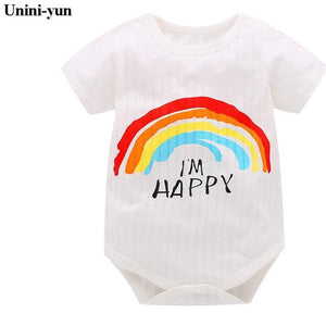 Baby Girls Boys Bodysuits For Infants Newborn Babies Clothes Bebe Summer Children Climb 100% Cotton Ivory / 3M
