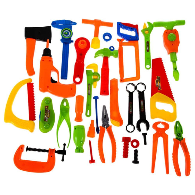 Baby Kids Toys Tools 34PCS Repair Toy Tools Plastic Fancy Dress Instruments Toy Kit Tools - MBMCITY