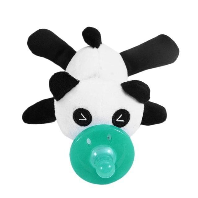 Baby Pacifier Silicone Chupeta Cartoon Animal Pacifier With Soft Plush Toy Food-grade Silicone