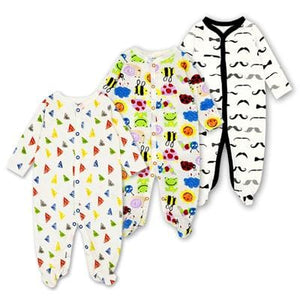 Baby Rompers Newborn Baby Girls Boys Clothes 100% Cotton Long Sleeves Baby Pajamas Cartoon Printed 4 / 3M