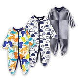 Baby Rompers Newborn Baby Girls Boys Clothes 100% Cotton Long Sleeves Baby Pajamas Cartoon Printed 1 / 3M