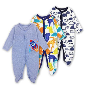 Baby Rompers Newborn Baby Girls Boys Clothes 100% Cotton Long Sleeves Baby Pajamas Cartoon Printed 6 / 3M