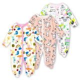 Baby Rompers Newborn Baby Girls Boys Clothes 100% Cotton Long Sleeves Baby Pajamas Cartoon Printed 9 / 3M