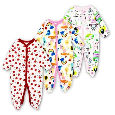 Baby Rompers Newborn Baby Girls Boys Clothes 100% Cotton Long Sleeves Baby Pajamas Cartoon Printed 5 / 3M