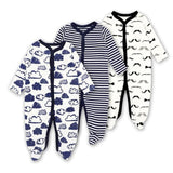 Baby Rompers Newborn Baby Girls Boys Clothes 100% Cotton Long Sleeves Baby Pajamas Cartoon Printed 2 / 3M