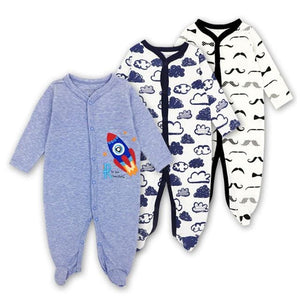 Baby Rompers Newborn Baby Girls Boys Clothes 100% Cotton Long Sleeves Baby Pajamas Cartoon Printed 3 / 3M