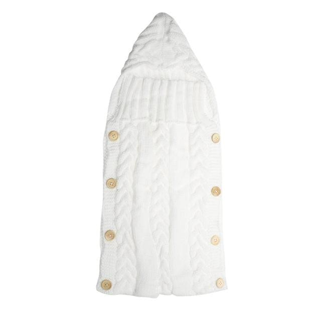 Baby Swaddle Wrap Warm Wool Crochet Knitted Newborn Infant Sleeping Bag Baby Swaddling Blanket A