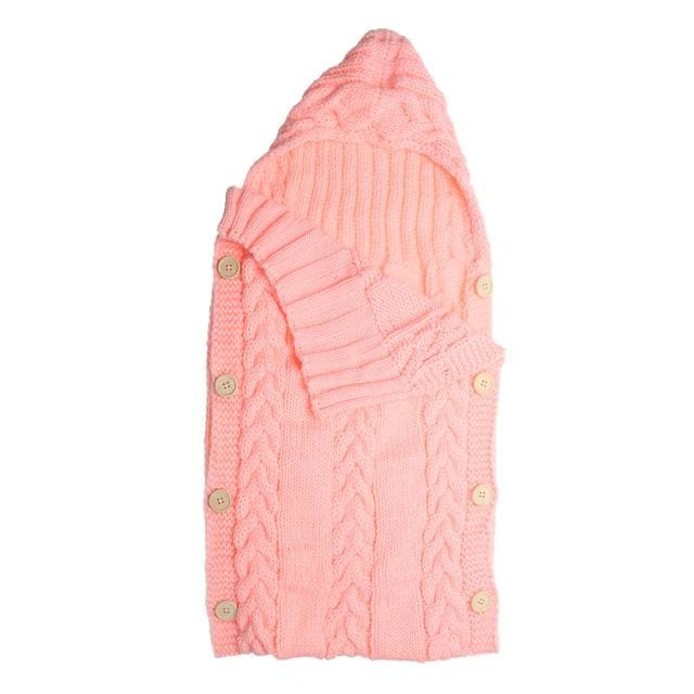 Baby Swaddle Wrap Warm Wool Crochet Knitted Newborn Infant Sleeping Bag Baby Swaddling Blanket F