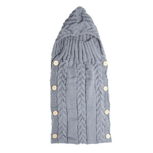 Baby Swaddle Wrap Warm Wool Crochet Knitted Newborn Infant Sleeping Bag Baby Swaddling Blanket C