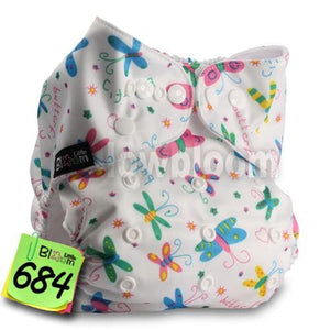 Baby Washable Reusable Real Cloth Pocket Nappy Diaper Cover Wrap, suits Birth to Potty One Size