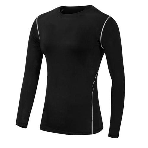 Base Layer Fitness Sport Shirt Quick Dry Women long Sleeves Top Gym jogging lady T-shirt Train Black / S