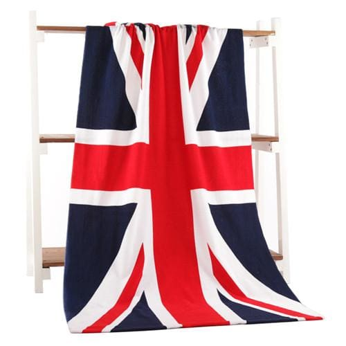 Beach Towel 2017 New Microfiber Bath Towels Adults70*140Cm Slipper Printed Beach Towel Girl Uk Flag / 70 By 140