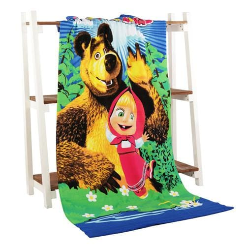 Beach Towel 2017 New Microfiber Bath Towels Adults70*140Cm Slipper Printed Beach Towel Girl Bear And Gril / 70 By 140