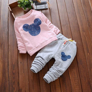 Bear Leader Baby Girl Clothes 2018 Spring Baby Clothing Sets Cartoon Printing Sweatshirts+Casual navy blue / 18M