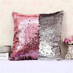 BeddingOutlet Mermaid Sequin Cushion Cover Magical Shining Pillow Case Patchwork Decorative