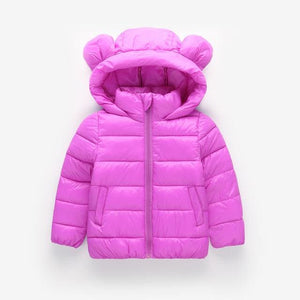BEEBILLY Girls Winter Jackets Boys Cartoon Style Girl Fashion Outerwear Baby Girls Clothes Hooded - MBMCITY